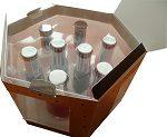 Transparent insert in a nail polish box set Material : APET
